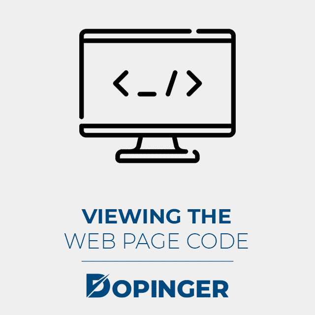 viewing the web page code
