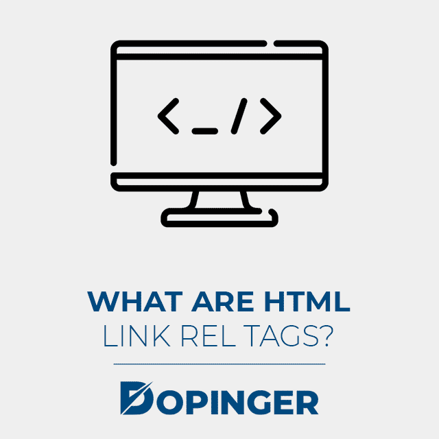 what are html link rel tags