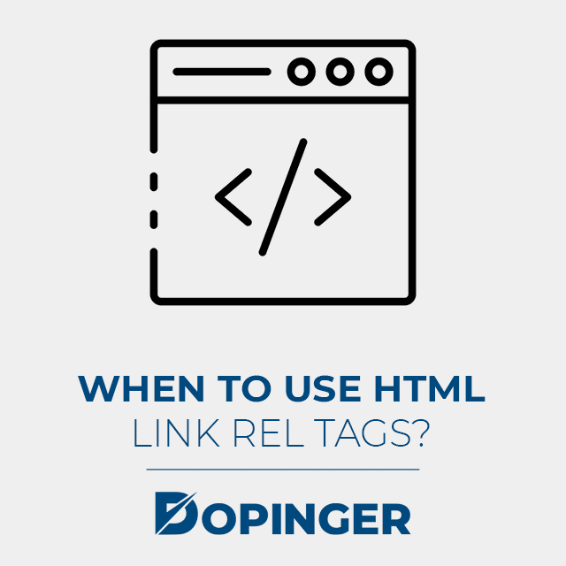 when to use html link rel tags