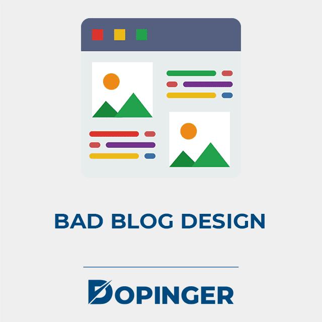 bad blog design