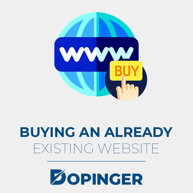 buying an already existing website