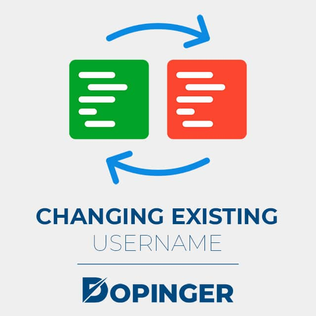 changing existing username