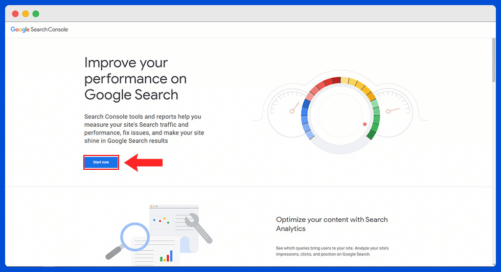 log into your search console account