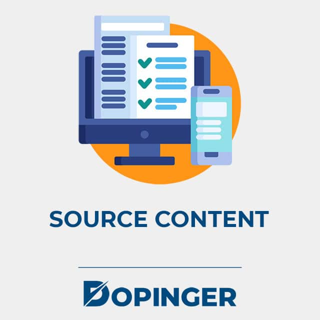 source content with social media
