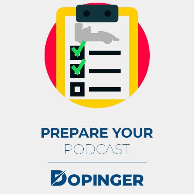 prepare your podcast