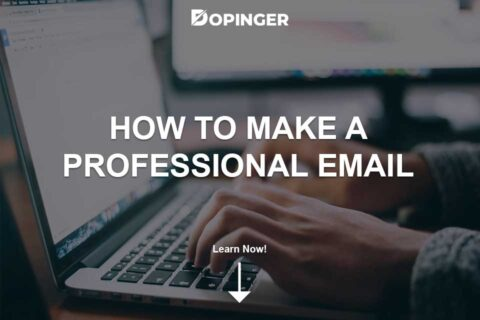 How to Make a Professional Email Address