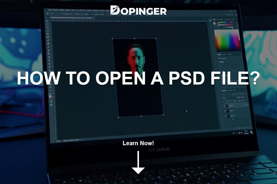 How to Open a PSD File