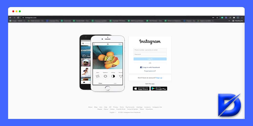 instagram main page
