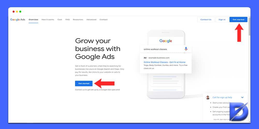 setting up google ads