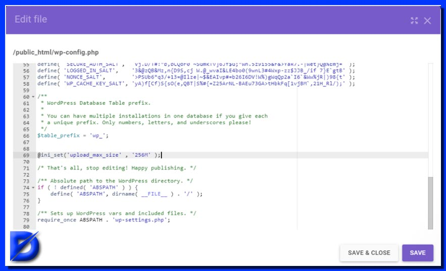 wp config php file