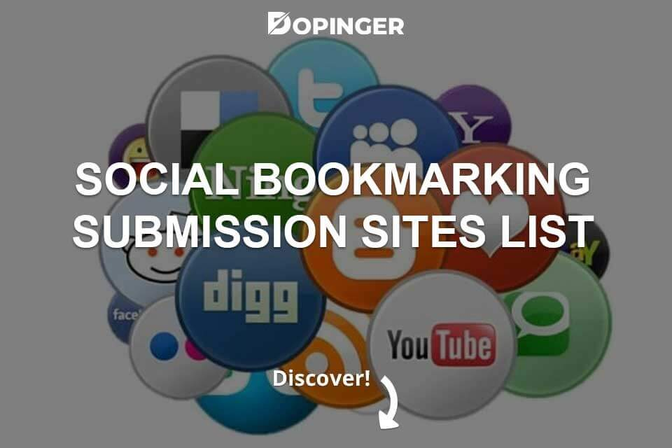Social Bookmarking Submission Sites List