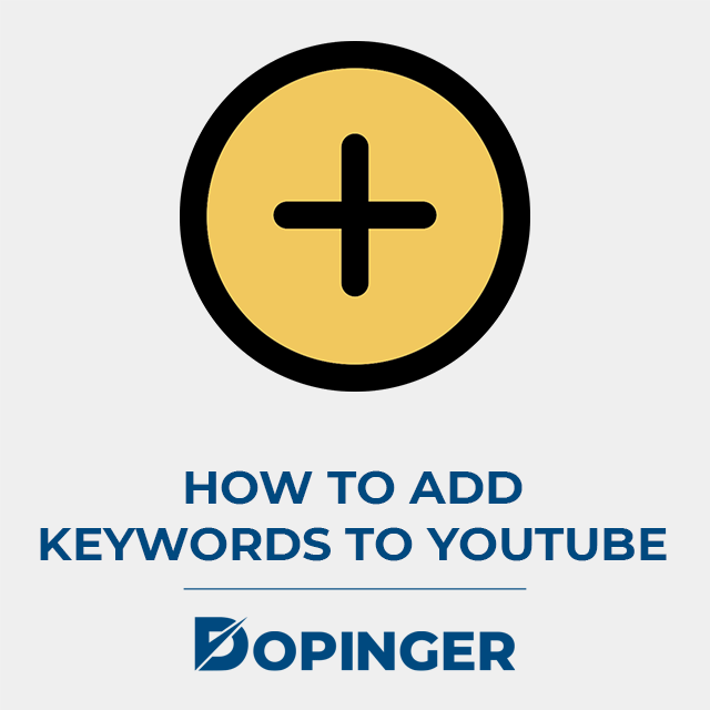 how to add keywords to youtube