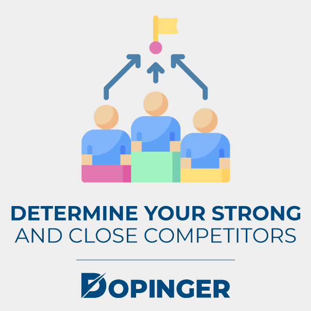 determine your strong and close competitors