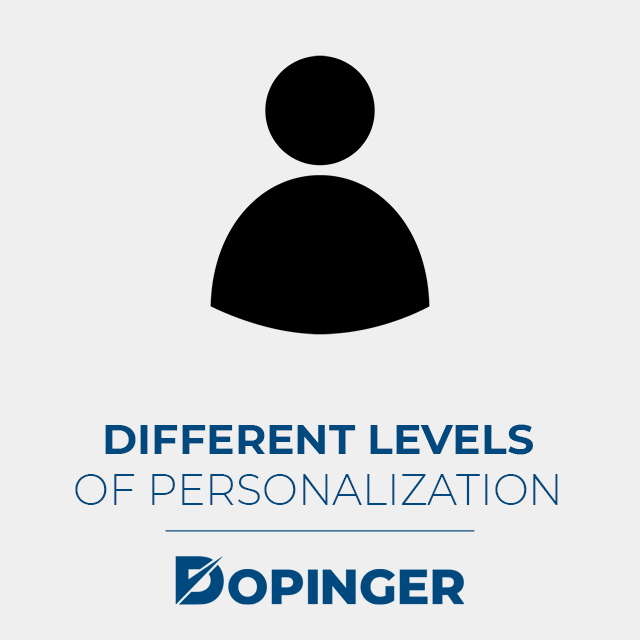 different levels of email personalization