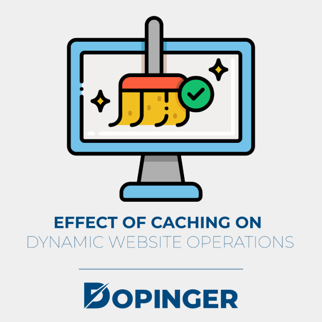 effect of caching on dynamic website operations.
