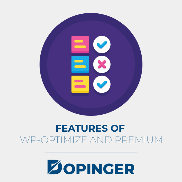 features of wp-optimize and premium