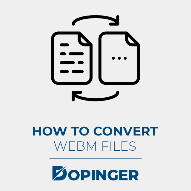 how to convert a webm file