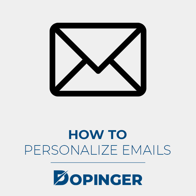 how to personalize emails
