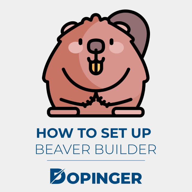 how to set up beaver builder