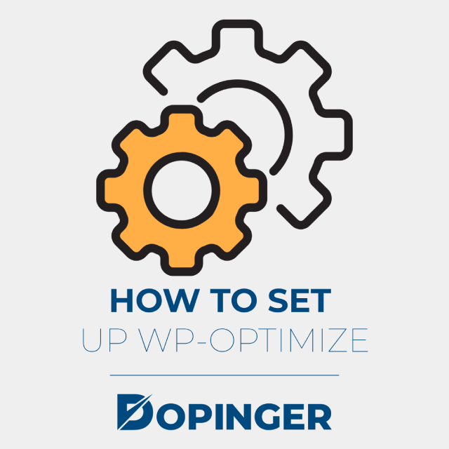 how to set up wp-optimize