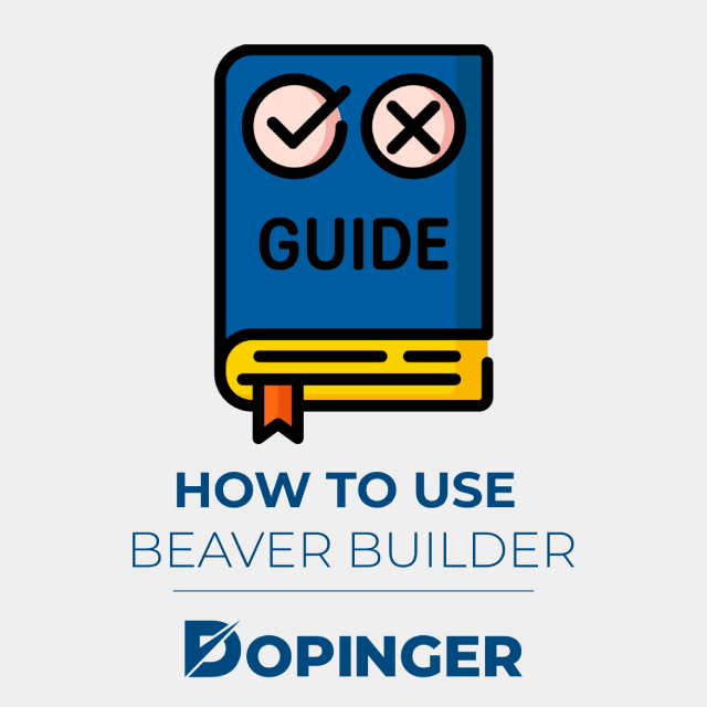 how to use beaver builder