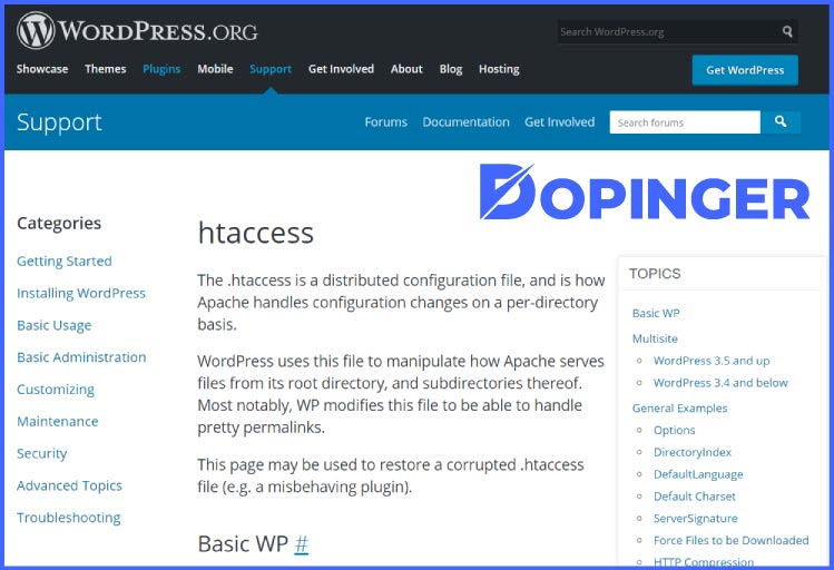 how to find htaccess in wordpress