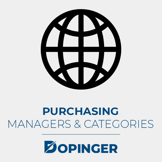 purchasing managers and categories