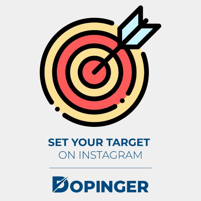 set your target on instagram