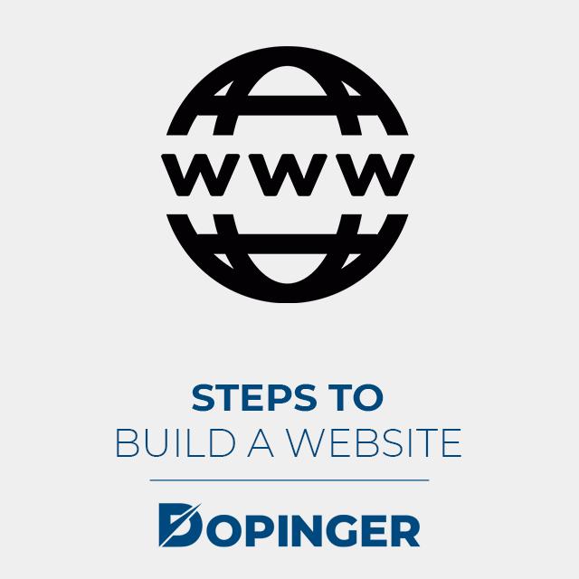 steps to build a website