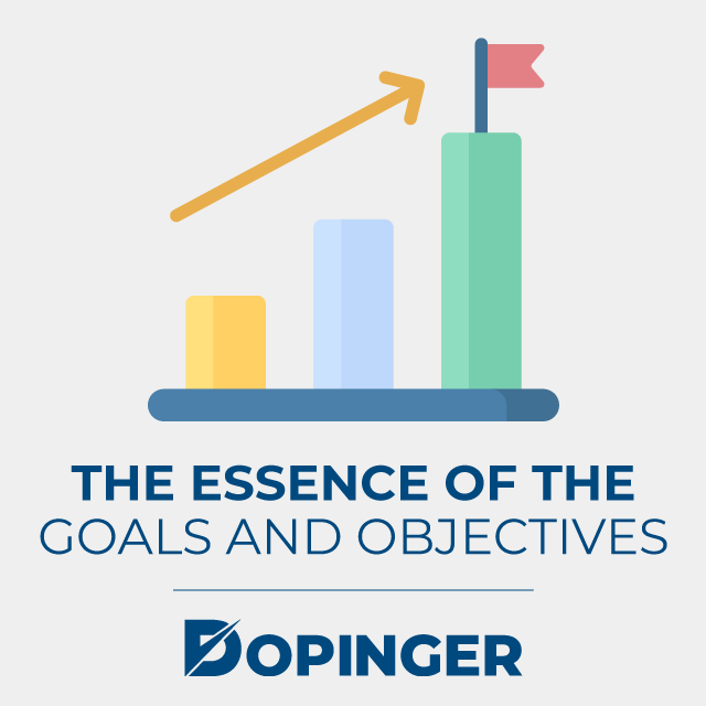 the essence of the goals and objectives