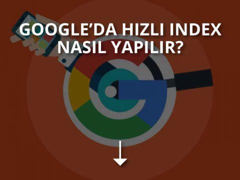 Google Hızlı İndex Alma