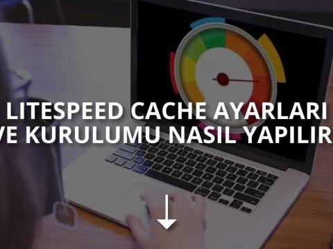 LiteSpeed Cache Ayarları ve Kurulumu