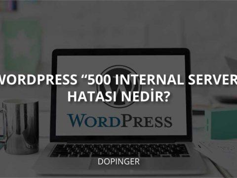 """WordPress """"500 Internal Server"""" Hatası Nedir?"""