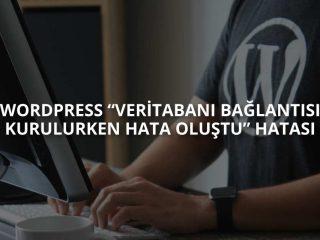 """WordPress """"Veritabanı Bağlantısı Kurulurken Hata Oluştu"""" Hatası"""