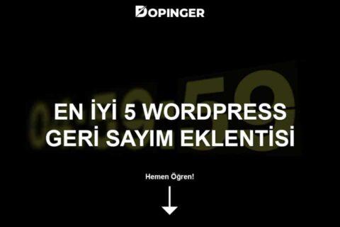 En İyi 5 WordPress Geri Sayım Eklentisi