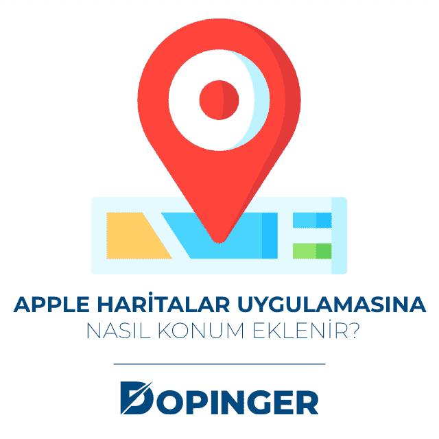 apple haritalar konum ekleme