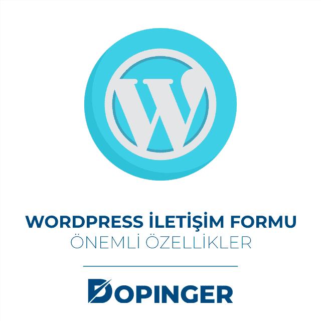 wordpress iletişim formu özellikleri