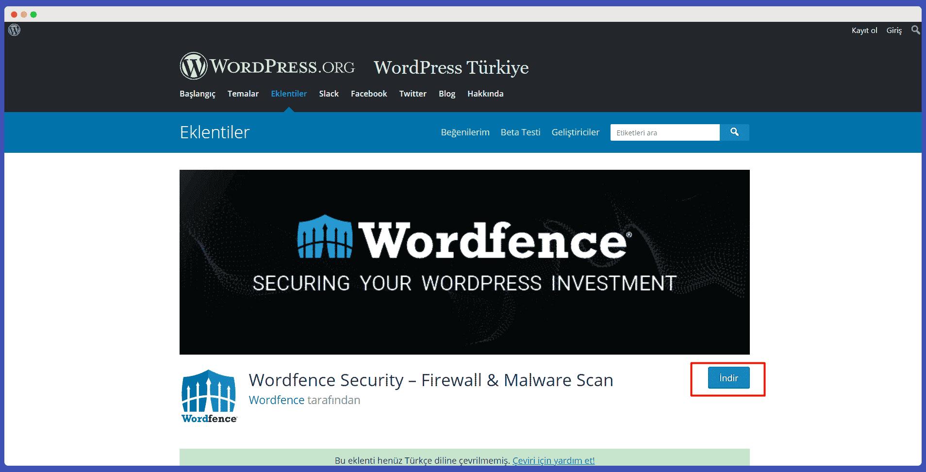 wordfence security kurulum aşamaları