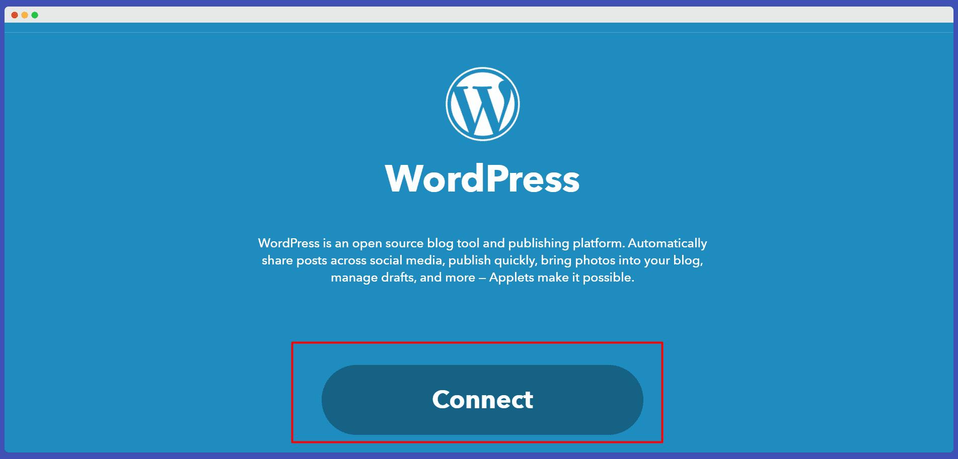 ucuncu parti program ile wordpress hesabı baglama