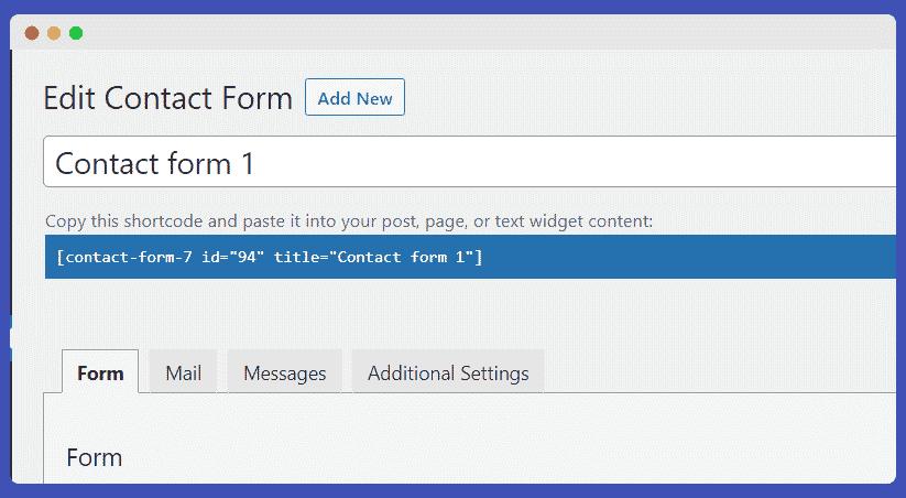 Contact form oluşturma