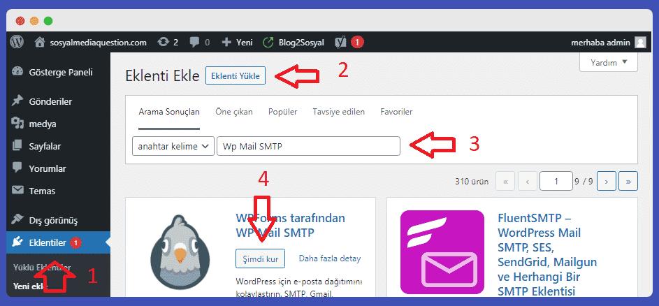 SMTP kurulum ve ayarları nasıl yapılır?