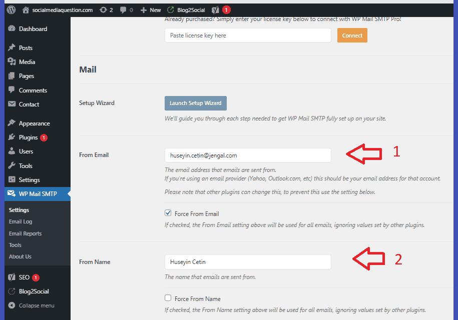 Wp SMPT ayarları nasıl yapılır?