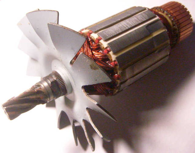 Якорь d54*L182-z7 протяжной дисковой пилы Темп на круг до 230 мм