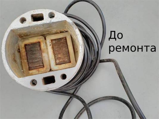 Ремонт электрической части вибрационного насоса Тайфун 2