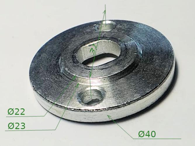 Прижимная шайба диска на 22.5 электропилы Фиолент, Зубр