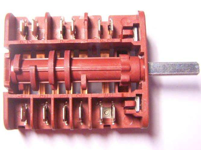 Переключатель электродуховки Zanussi на 6 контактов