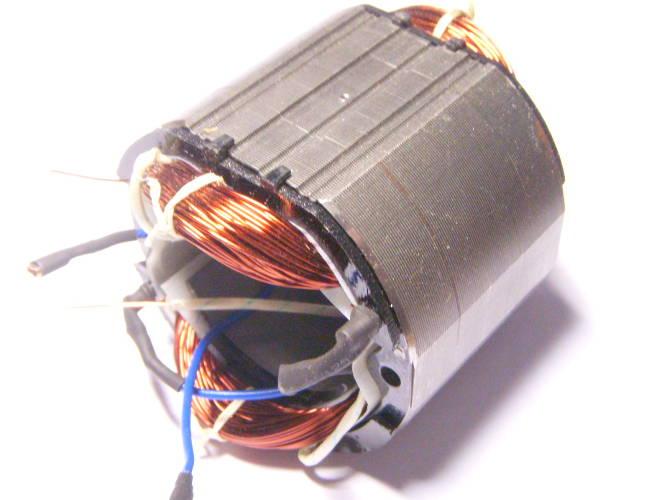 Статор электродвигателя болгарки Ритм УШМ 1850/180 под якорь 44 мм