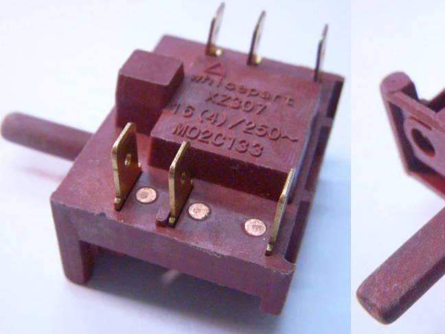 4-х позиционный переключатель ZX307 для духовки Luxell