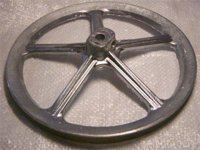 Алюминиевый 21 см шкив активатора стиральной машины Агат, Либідь, Зіронька, медогонки