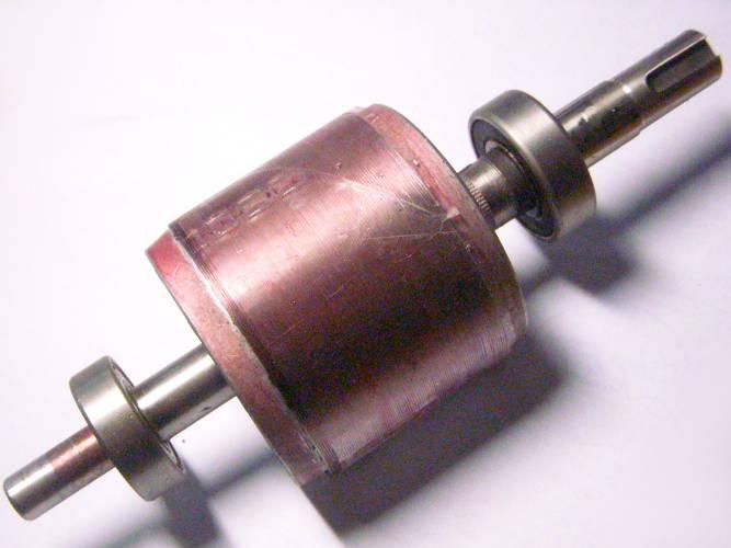 Ремонт ротора двигателя ленточной электропилы Einhell,